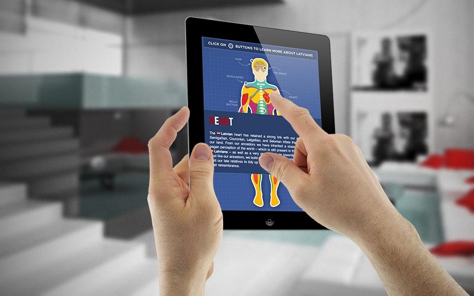The Facebook Latvian anatomy application