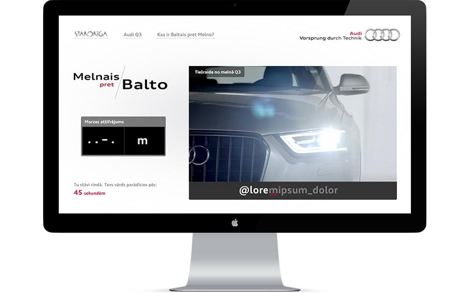 Audi Q3 WEB risinājums