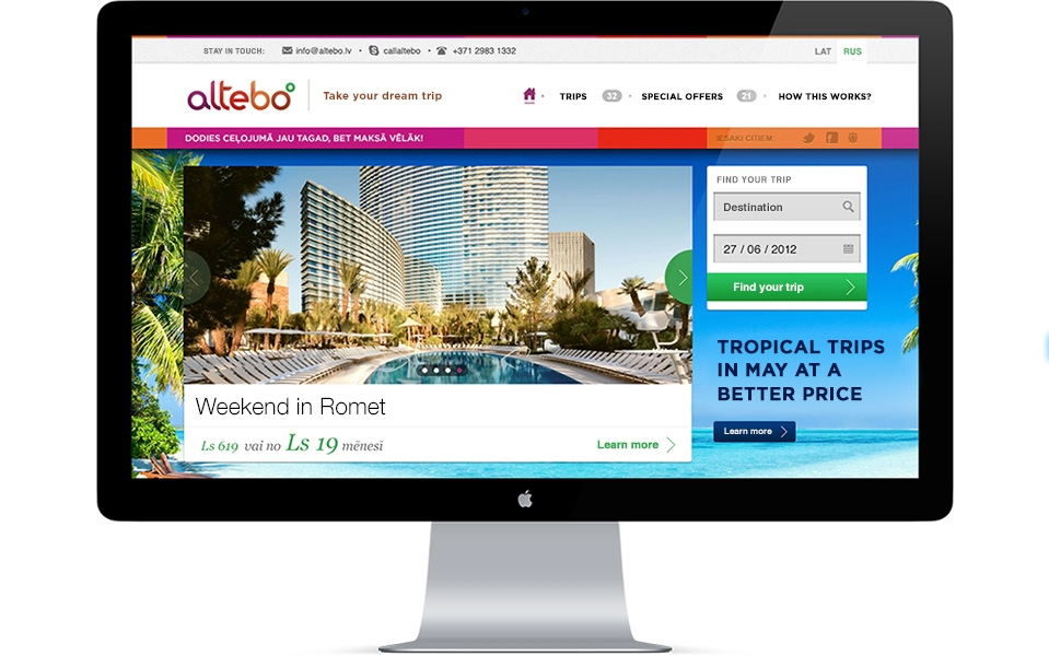 The Altebo travel platform
